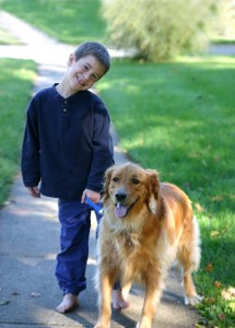 http://www.dreamstime.com/stock-photos-boy-walking-dog-image1314553